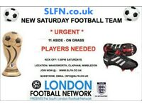 FOOTBALL TEAMS LOOKING FOR PLAYERS, 1 DEFENDER, WINGER NEEDED FOR SOUTH LONDON FOOTBALL TEAM: h29