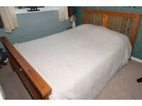 Wooden Double Bed Frame & Mattress