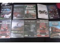 DVD FILMS on transport, buses, motor bikes, police cars, trains