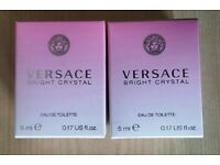 2x Versace Bright Crystal EDT Eau De Toilette Perfume Travel Size