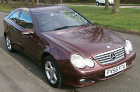 2007 Mercedes C200 CDI Coupe, Turbo Diesel, Auto, Burgundy Red, Long MOT, Full Service History, VGC.