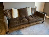 Large Brown Fabric 4 seater Sofa John Lewis