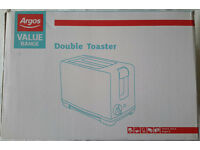 Argos Double Slice Toaster White 800W PERFECT FOR STUDENTS OR EXTRA KITCHEN ROOM BARGAIN JUST £2!