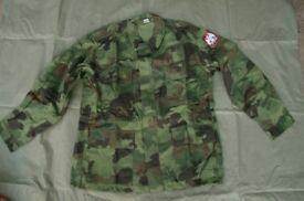 NEW - SERBIAN ARMY M93 Oakleaf CAMOUFLAGE Combat JACKET (Large)