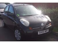 Nissan Micra 1.5 Diesel 2005 in black, very rare model, superb condition inside and out