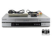 PANASONIC NV-HV60EB-S VHS VCR S-VHS VIDEO CASSETTE PLAYER + REMOTE