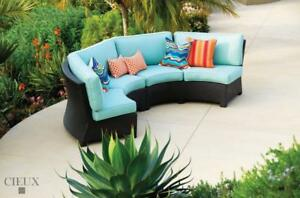 FREE Delivery in Montreal! Provence Outdoor Patio Curved Sectional by Cieux!