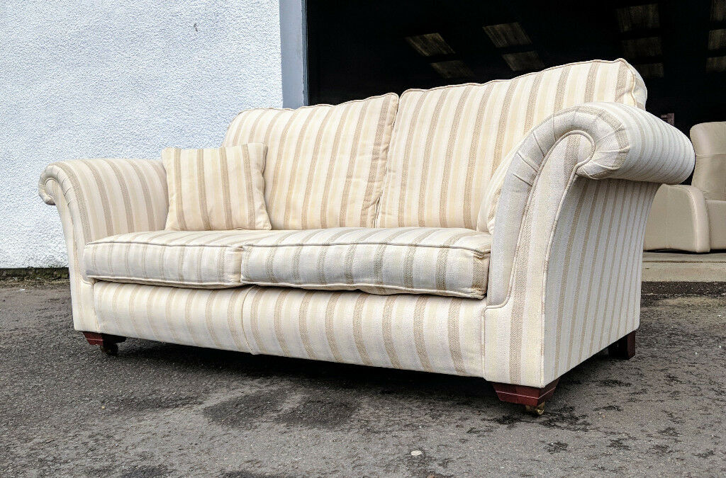 Parker Derwent 3 Seater Striped Sofa Vgc Delivery
