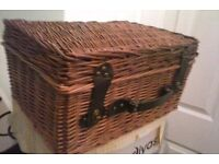 Wicker Picnic Style Basket. Get ready for summer picnics or nice decorative storage