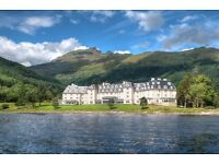 Come live & work in Scotland! FULL TIME PERMANENT hotel staff needed at Lochs & Glens Hotels