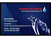 Advance-plumbing - specialise in oil boilder service and repairs. General plumbing. 100% reliable.