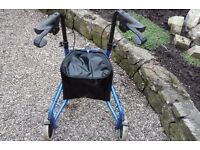 three wheel walker for the biabled