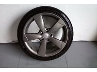 ALLOYS X 4 OF 18 INCH GENUINE AUDI A3/5/SPOKE/ROTA/FULLY POWDERCOATED IN A STUNNING GRAPHITE NICE