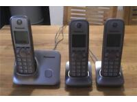 Triple handset home phones