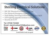 Electrician NICEIC Electrical Certificates FROM £99 Fire Alarm Emergency Lighting HMO Part P
