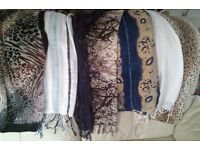 SELECTION of Elegant l-o-n-g SCARVES