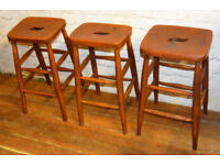 30 available wooden school stools antique vintage industrial kitchen retro seating cafe old chairs
