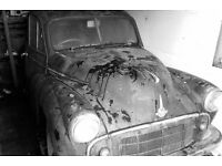 Morris Minor, Split Screen, 1954, JUH 767, 4 DOOR, Cheese Grater Grill