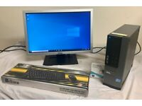 SSD Dell Optiplex I5 Quad Computer Desktop Pc With Dell Widescreen 22 LCD