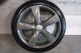 ALLOYS X 4 OF 18 INCH GENUINE AUDI A3 5 SPOKE ROTA FULLY POWDERCOATED IN A STUNNING GRAPHITE NICEJOB