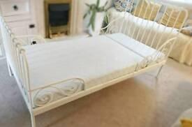 #####Minnem Ikea single Ext toddler bed frame including matress