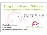 Childminder with spaces in Bournemouth, Castlepoint.