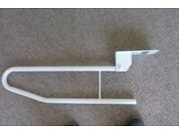 folding toilet/shower support rail