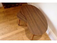 Coffee tables - Set of 2 dark wooden vintage and retro