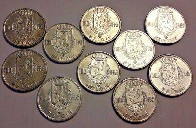 ==> Lot 10 x 100 francs Frank 4 Rois Koningen FR NL Belgïe Belgique KM# 138 139