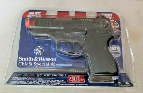 Brand New Smith & Wesson Chiefs Special 45 Airsoft Hand Gun Pistol w/70 BBs BAXS
