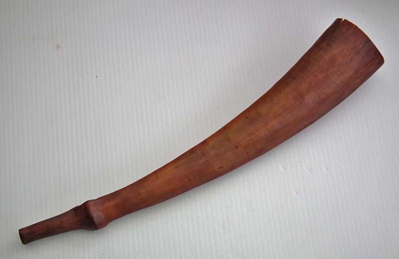 Antique African War Trumpet Lega Congo 19th Century