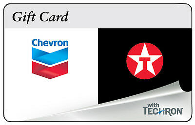 $10 / $25 / $50 Chevron Texaco Gas Physical Gift Card - 1st Class Mail Delivery