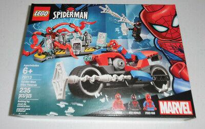 LEGO Spiderman Spider-man Bike Rescue 76113 235 Piece Building Set Toy MARVEL