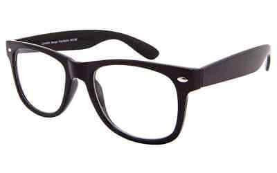 Klein Schwarz Nerd Geek Klarglas Mode Brille Vtg Nerd Hupe Hutkrempe Hipster