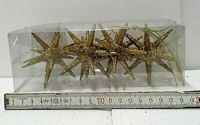 4 Sterne Weihnachtsanhänger gold Glitzer Deko Weihnachtsbaumschmuck 237