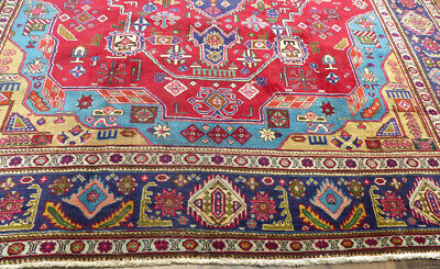 10'x13' Traditional OLD Handmade Wool Vintage Floral Authentic Oriental area rug