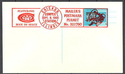 Chicago COMPEX 1966 Postcard Mailer's Mark & Man in Space #2