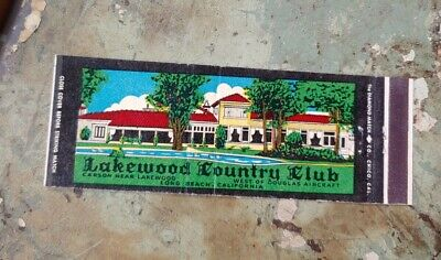 Vtg Lakewood Country Club Matchbook Golf Long Beach California CA Invitation