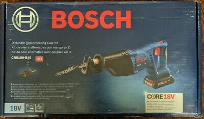 Bosch CRS180-B15 CORE18V 1-1/8 D-Handle Recip Saw Kit w/ 4.0 Ah Battery -New!CR