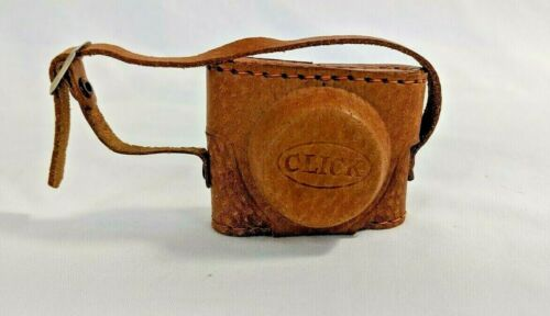 """Vintage Miniature """"Click Camera""""  Made In Japan With Leather Case"""