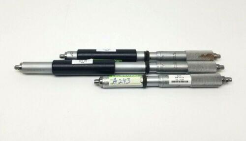 """set of (3) Starrett 824 Inside Micrometers, 6-8, 8-10,10-12"""" Ranges .001 Gauge"""