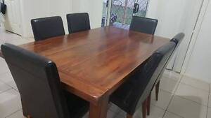 Solid Timber Dining Table Rooty Hill Blacktown Area Preview