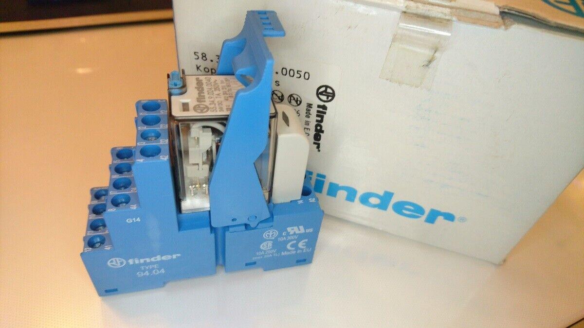 58.34.9.024.0050 K Finder Industrie Koppel Relais 24V DC 4 Wechsler 7A