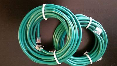 2pc 15ft. RJ11 CAT5e Green DSL Telephone Data Cable