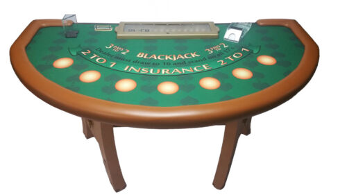 "Professional Size Blackjack Table from Tropicana Casino in Atlantic City 80""x 45"