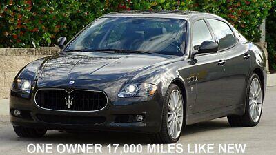2013 Maserati Quattroporte 17000 ONE OWNER MILES 2013 MASERATI QUATTROPORTE-S EDITION WITH 17,000 LOCAL ONE OWNER MILES LIKE NEW