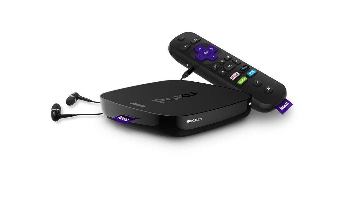 Roku Ultra   HD/4K/HDR Streaming Media PlayerVoice Remote,