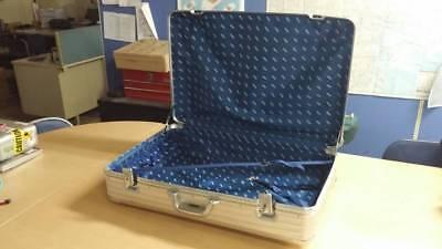 Vintage West Germany RIMOWA bar handle 2 wheels Aluminum suitcase topaz with key