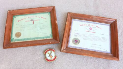 Moose Lodge Framed Certificates Things Herders Commision Mooseheart Patch FR