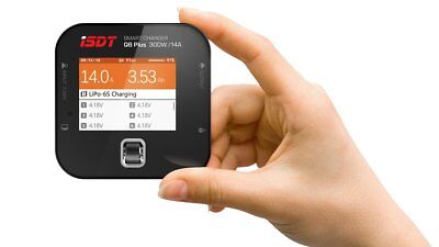 ISDT Q6 Plus 300W Pocket Battery Balance Charger 2.4inch 320×240 IPS LCD Display